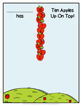 Ten Apples Up On Top Student Picture, Memory Book Page