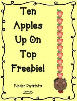 Ten Apples Up on Top Math Freebie