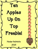 Ten Apples Up on Top Math Freebie