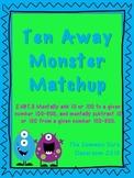 Ten Away Monster Matchup - Math Center Game for 2.NBT.8 - add & subtract 10