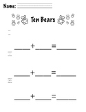 Ten Bears on a Bus Everyday Math Extension Worksheet