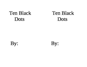 Ten Black Dots Mini Book