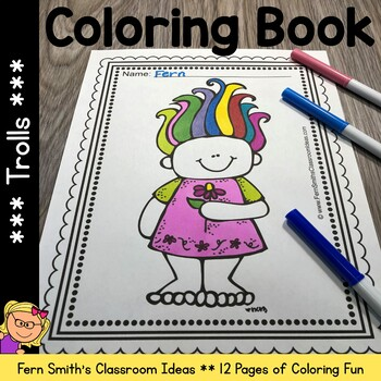 Trolls Coloring Pages Dollar Deal