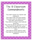 Ten Classroom Commandments