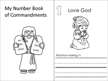 Christian Education: Ten Commandment Counting Book