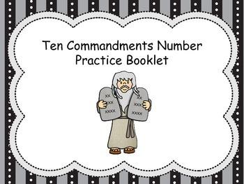 Christian Education: Ten Commandment Counting Book