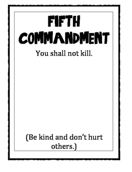 Ten Commandment Posters