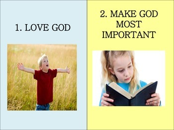 Christian Education: Ten Commandment Posters for Young Kids
