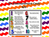 Ten Commandment Printable Cards - KJV