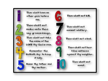 graphic relating to 10 Commandments Kjv Printable named 10 Commandment Printable Playing cards - KJV