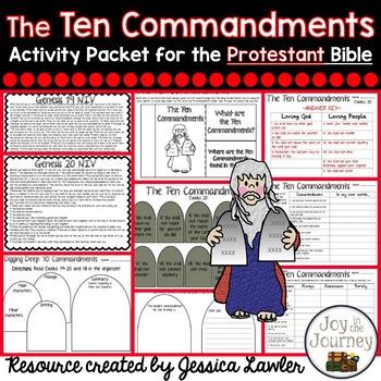 Ten Commandments Activities (Protestant)
