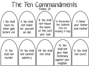 Astounding image with ten commandment printable