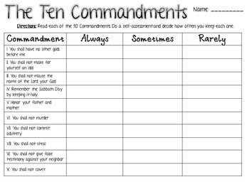photograph relating to Ten Commandments Printable Activities referred to as 10 Commandments Things to do (Protestant)