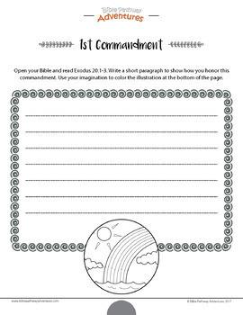 Ten Commandments: Creative Writing & Coloring workbook