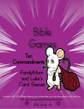 Ten Commandments Board and Card Games