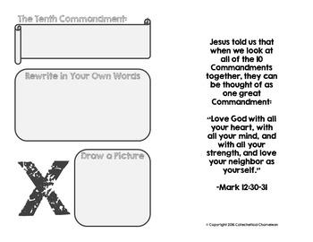 Ten Commandments Booklet