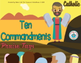 Ten Commandments Brag Tags - Catholic