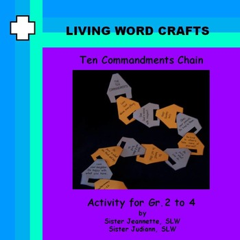 Ten Commandments Chain for Gr. 2 to 4