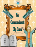 Ten Commandments Clip Cards - Catholic