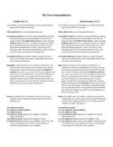 Ten Commandments Comparison and Contrast Sheet