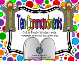 Ten Commandments Cut & Paste Worksheets for  Kids - Christian