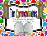 Ten Commandments Cut & Paste Worksheets for Kids - Catholic