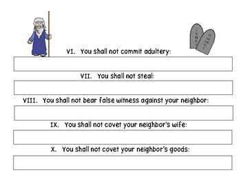 Ten Commandments Cut and Paste