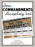 Ten Commandments Display Set/ Bulletin Board Set