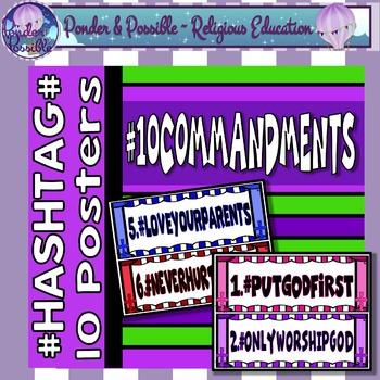 Ten Commandments - # Hash Tag #HASHTAG POSTERS