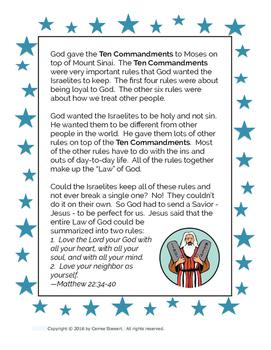 Ten Commandments Kids Bible Study Pack