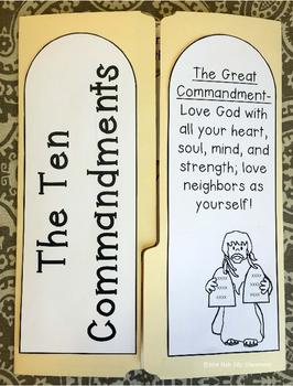 Ten Commandments Lapbook