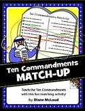 Ten Commandments Match-Up Bible Activity