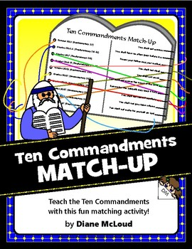 Ten Commandments Match-Up—Bible Activity