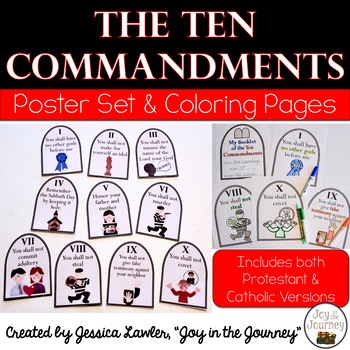 Ten Commandments Coloring Pages Worksheets Teaching Resources Tpt