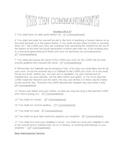 Ten Commandments Questions and Discussion