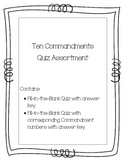 Ten Commandments Quiz Assortment