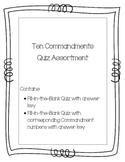 Ten Commandments Quiz Assortment
