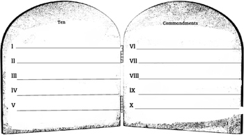 Ten Commandments Template
