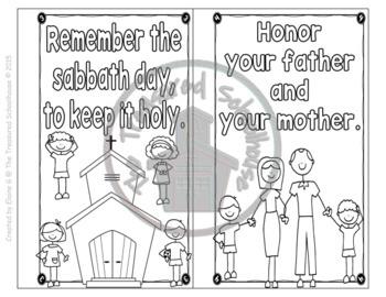 Ten Commandments for Kids Coloring Booklets - Catholic