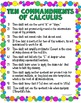 Ten Commandments of Calculus Giant Poster