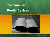 Ten Common Poetic Devices