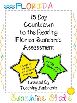 15 Day Countdown To The Reading Fsa Florida Standards Assessment