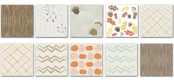 Ten Digital, Fall Themed Paper for Power Points, Scrapbook