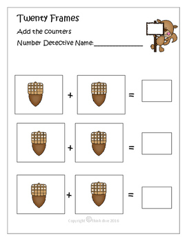 Ten & Double Ten Frames Squirrel Math Fun