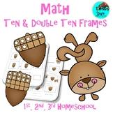 Ten & Double Ten Frames Squirrel Math Fun