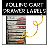 Ten Drawer Rolling Cart Labels {Succulents}