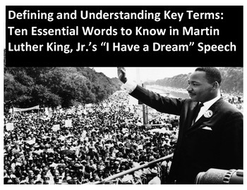 """Ten Essential Words to Know in Martin Luther King, Jr.'s """"I Have a Dream"""" Speech"""
