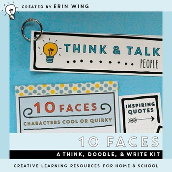 Ten Faces: A Think, Doodle and Write Kit