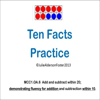 Ten Facts Practice Flipchart