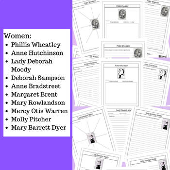 Famous Women from Colonial America BUNDLE
